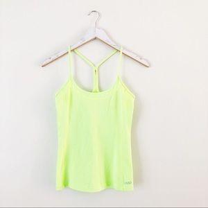 Lorna Jane Neon Yellow Racerback Cami Workout Top